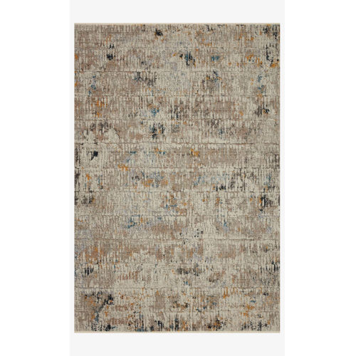 Leigh Ivory and Granite Rectangle: 5 Ft. 3 In. x 7 Ft. 6 In. Rug