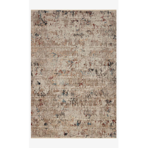 Leigh Ivory and Multicolor Rectangle: 6 Ft. 7 In. x 9 Ft. 6 In. Rug
