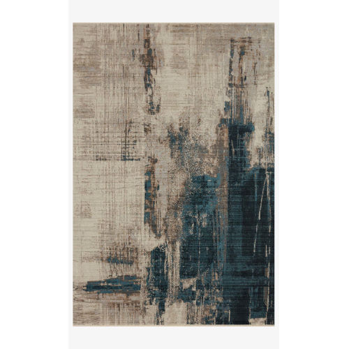 Leigh Slate and Denim Rectangle: 11 Ft. 6 In. x 15 Ft. 7 In. Rug