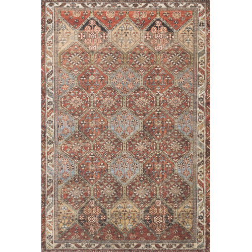 Loren Spice and Multicolor 2 Ft. 6 In. x 7 Ft. 6 In. Power Loomed Rug