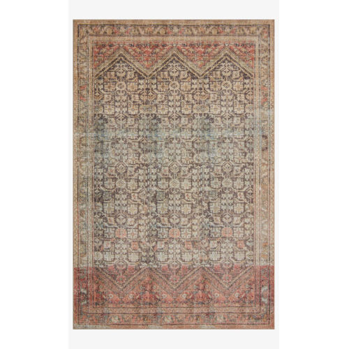 Loren Charcoal and Multicolor Rectangle: 7 Ft. 6 In. x 9 Ft. 6 In. Rug
