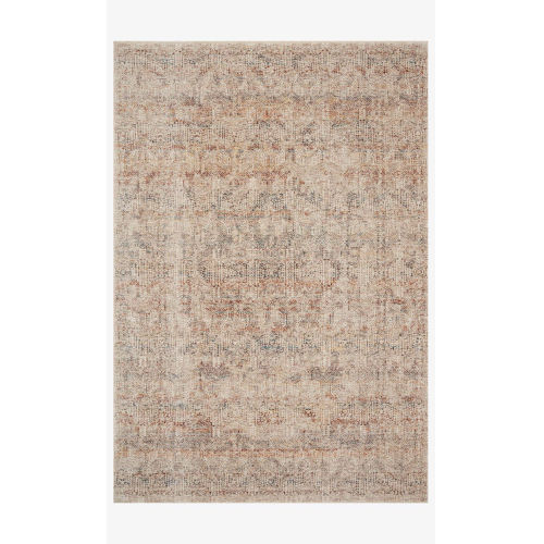 Lourdes Ivory and Spice Rectangle: 5 Ft. 3 In. x 7 Ft. 9 In. Rug