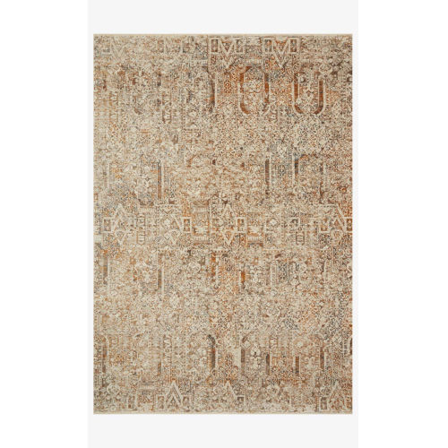 Lourdes Ivory and Orange Rectangle: 2 Ft. 3 In. x 3 Ft. 10 In. Rug