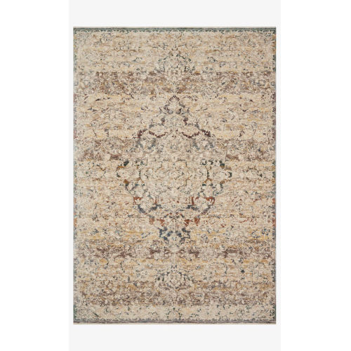 Lourdes Ivory and Multicolor Rectangle: 7 Ft. 10 In. x 10 Ft. Rug