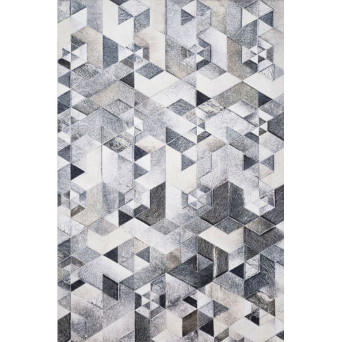 Maddox Gray and Ivory 30 x 90-Inch Power Loomed Rug
