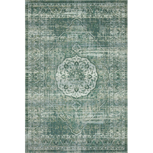 Mika Green and Mist 18 x 18-Inch Power Loomed Rug