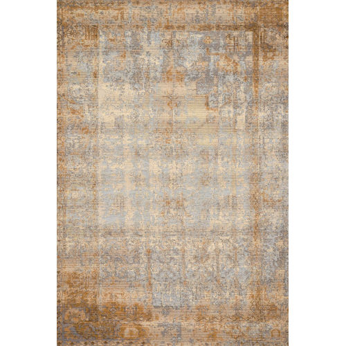 Mika Antique Ivory and Copper 63 x 92-Inch Power Loomed Rug