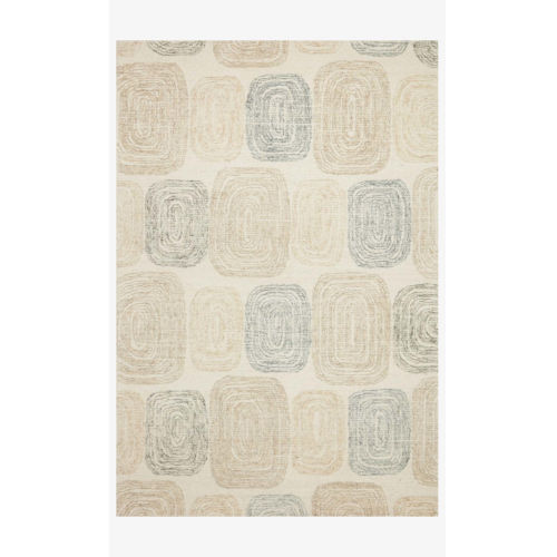 Milo Teal and Neutral Runner: 2 Ft. 6 In. x 7 Ft. 6 In.