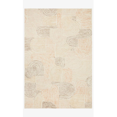 Milo Peach and Pebble Rectangle: 5 Ft. x 7 Ft. 6 In. Rug