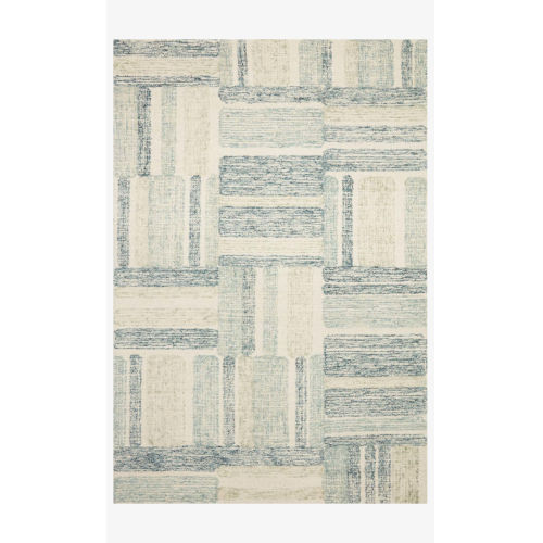 Milo Aqua and Denim 18 In. x 18 In. Rug - Sample Swatch Only