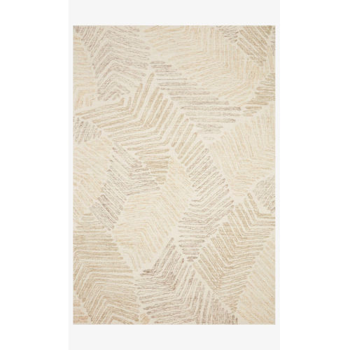 Milo Olive and Natural Rectangle: 3 Ft. 6 In. x 5 Ft. 6 In. Rug
