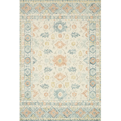 Norabel Ivory Multicolor Rectangular: 3 Ft. 6 In. x 5 Ft. 6 In. Rug