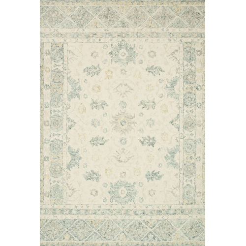Norabel Ivory Slate Square: 1 Ft. 6 In. x 1 Ft. 6 In. Rug