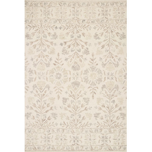 Norabel Ivory Neutral Rectangular: 2 Ft. 6 In. x 9 Ft. 9 In. Rug