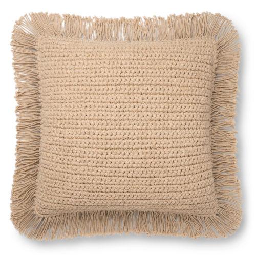 Beige 22 x 22-Inch Machine Made Pillow