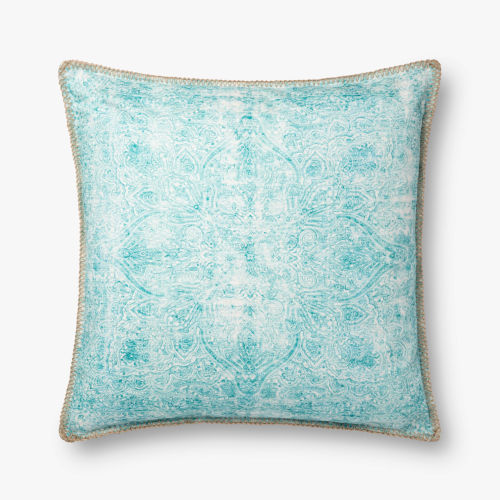 Teal 22 In. x 22 In. Throw Pillow Cover