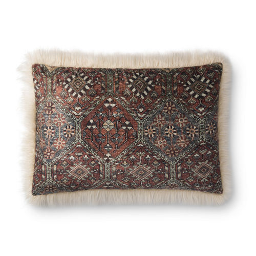 Ivory Multicolor 16 In. x 26 In. Throw Pillow Cover