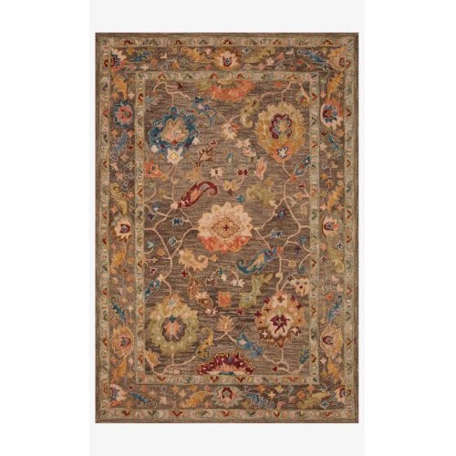 Padma Charcoal and Multicolor Runner: 2 Ft. 6 In. x 9 Ft. 9 In.