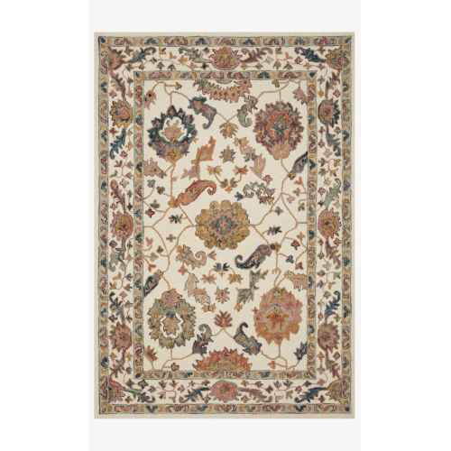 Padma White and Multicolor Rectangle: 3 Ft. 6 In. x 5 Ft. 6 In. Rug