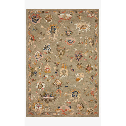 Padma Gray and Multicolor Runner: 2 Ft. 6 In. x 7 Ft. 6 In.