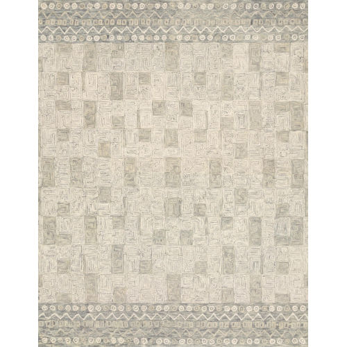 Justina Blakeney Pewter and Natural 93 x 93-Inch Hooked Rug