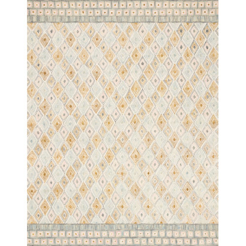 Justina Blakeney Mist and Gold 30 x 90-Inch Hooked Rug