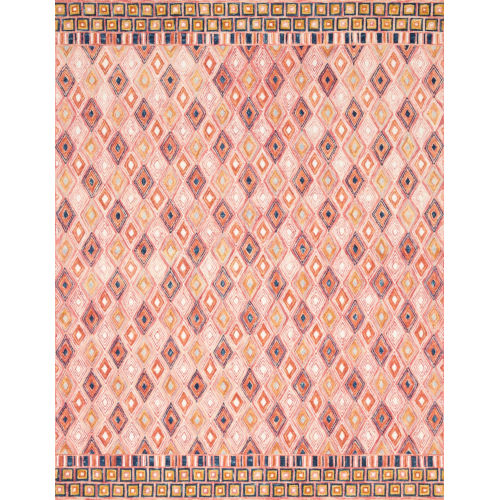Justina Blakeney Pink and Sunset 60 x 60-Inch Hooked Rug