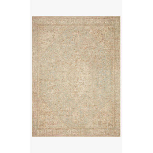 Priya Ocean and Ivory Rectangle: 5 Ft. x 7 Ft. 6 In. Rug