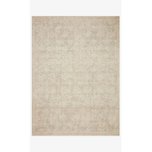 Priya Navy and Ivory Rectangle: 3 Ft. 6 In. x 5 Ft. 6 In. Rug