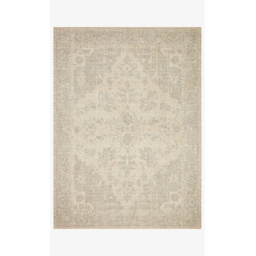 Priya Ivory and Gray Rectangle: 9 Ft. 3 In. x 13 Ft. Rug