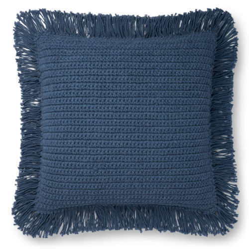 Blue 22 x 22-Inch Machine Made Pillow