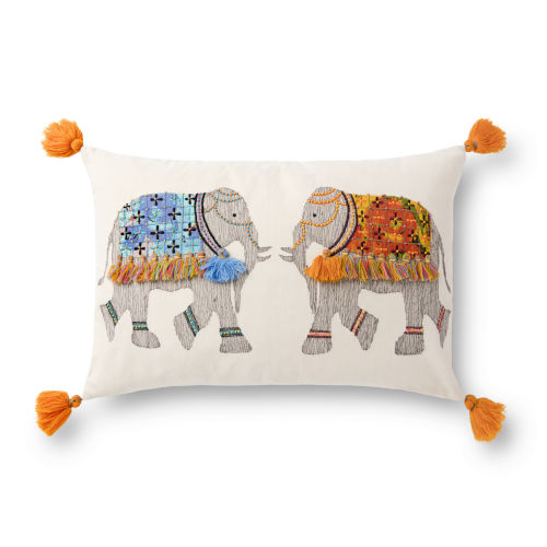 Multicolor 13In. x 21In. Pillow Cover with Poly Fill