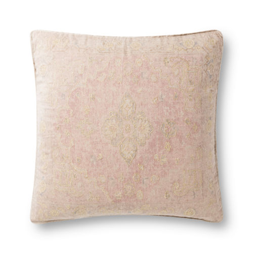 Red and Gold 22In. x 22In. Pillow Cover with Poly Fill