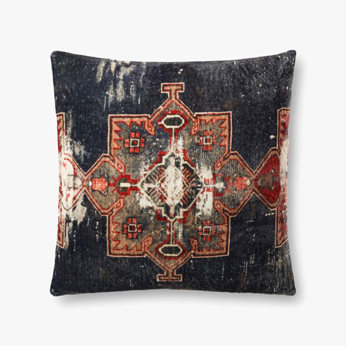 Multicolor Woven Flannel Printed Decorative Pillow