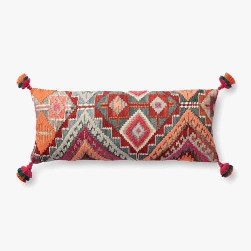Justina Blakeney Plush Woven Bohemian Accent Pillow with Tassels