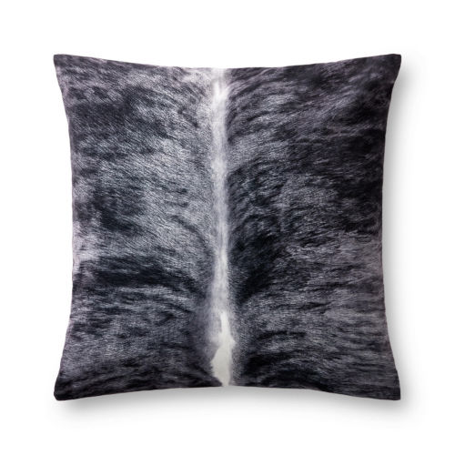 Charcoal and White 22 In. x 22 In. Pillow