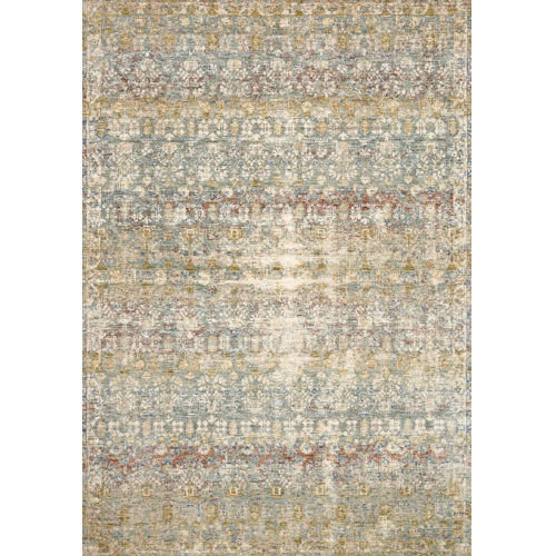 Revere Grey with Multicolor Rectangle: 5 Ft. x 8 Ft. Rug