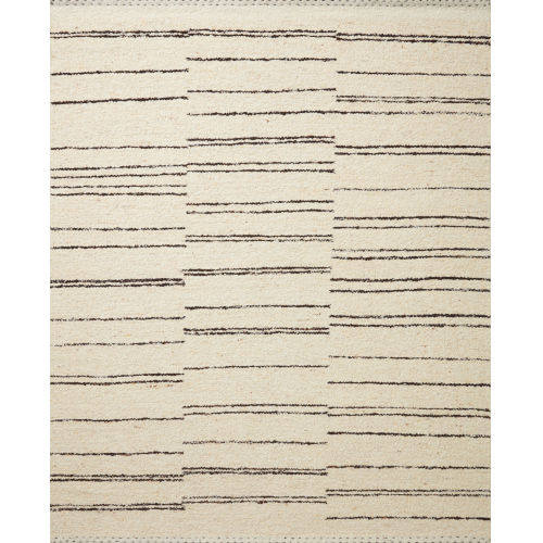 Roman Natural and Charcoal Area Rug