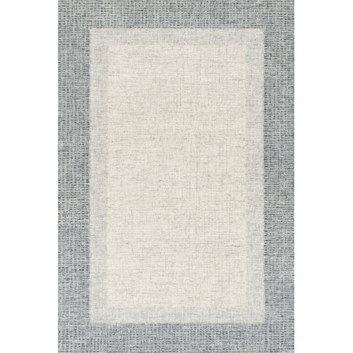 Rosina Gray and Blue 2 Ft. 3 In. x 3 Ft. 9 In. Hand Tufted Rug