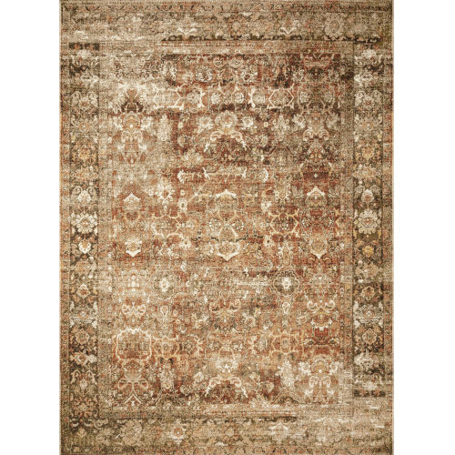 Sebastian Rust and Tobacco Rectangular 5Ft. 3In. x 7Ft. 8In. Rug