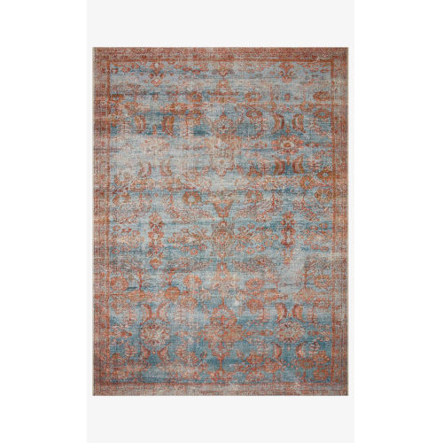 Sebastian Ocean and Spice Rectangle: 7 Ft. 10 In. x 11 Ft. 2 In. Rug