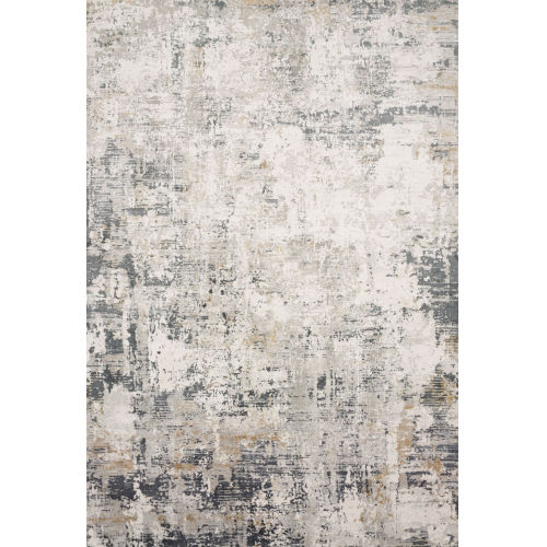 Sienne Ivory and Granite 110 x 144-Inch Power Loomed Rug