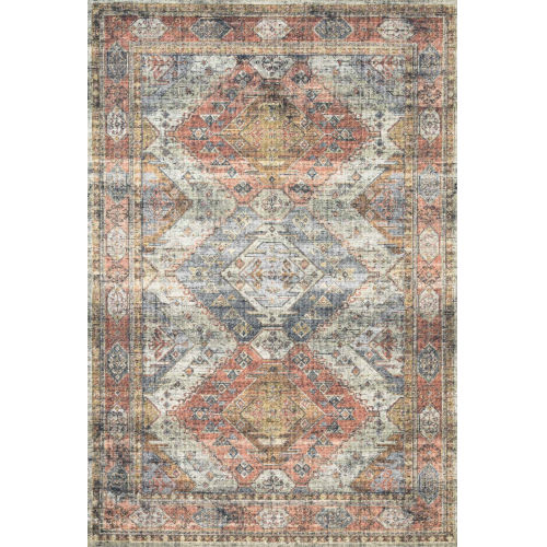Skye Apricot and Mist 90 x 114-Inch Power Loomed Rug
