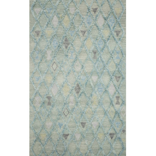 Symbology Seafoam Rectangle: 3 Ft. 6 In. x 5 Ft. 6 In. Rug