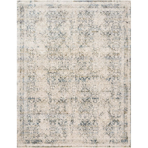Theia Natural and Ocean 24 x 43-Inch Power Loomed Rug