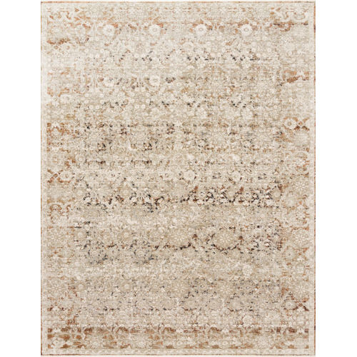 Theia Natural and Rust 79 x 114-Inch Power Loomed Rug