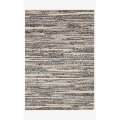Theory Mist and Beige Runner: 2 Ft. 7 In. x 7 Ft. 8 In.