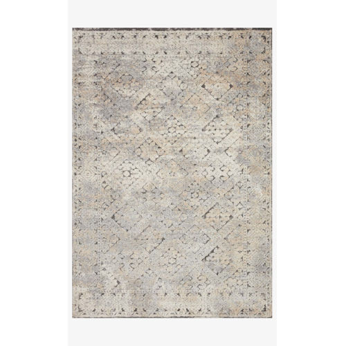 Theory Gray and Sand Rectangle: 5 Ft. 3 In. x 7 Ft. 8 In. Rug