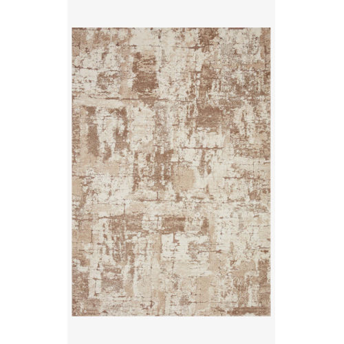 Theory Beige and Taupe Rectangle: 5 Ft. 3 In. x 7 Ft. 8 In. Rug