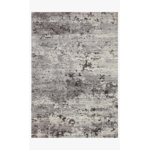 Theory Charcoal and Gray Rectangle: 3 Ft. 7 In. x 5 Ft. 7 In. Rug